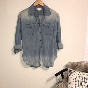 Madewell denim button down tunic XS S